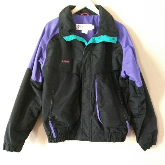 Columbia Other - Columbia Vintage Men s Black Purple Ski Coat M c6bf3e2db
